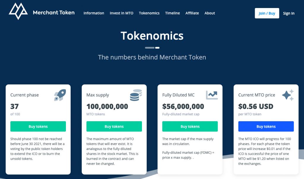 Capture décran 2021 04 09 à 13.49.22 3 Merchant Token (MTO) : Analyse de la cryptomonnaie promettant la sécurité des consommateurs