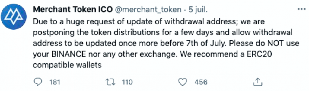Capture décran 2021 07 16 à 17.54.57 Merchant Token - Update : Qu'avez vous fait de vos MTO ?